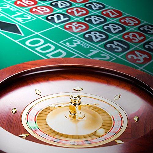19 casino grade deluxe wooden roulette wheel