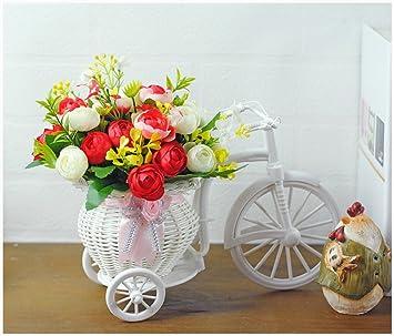 JiaQi Flores Artificiales,Flotador Flor de Fake,Flor Flor de la simulación Armadura Flores secas Simulación Dormitorio Sala de Estar Rural Encantador ...