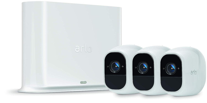 Arlo Pro 2 VMS4330P-100EUS - Sistema de seguridad y vídeo vigilancia de 3 cámaras sin cables 1080p HD (recargable, interior/exterior, visión nocturna, ...