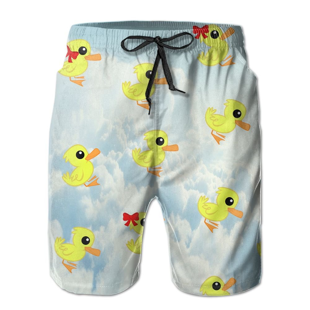 JF-X Duck Pattern Mens Beach Surf Shorts Board Shorts Swimming Trunks