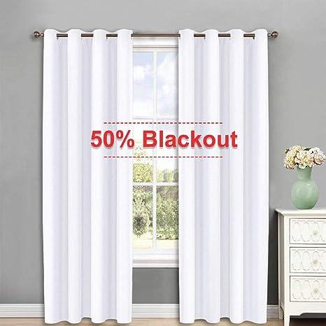 NICETOWN White Curtains For Sliding Door