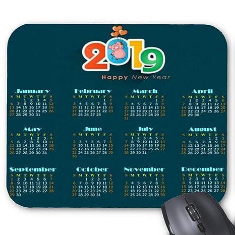 Amazon com : 2019 Calendar Background Dark Decor Pig Icons