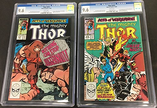 Thor (1966) 411 & 412 both CGC 9.6 1st app New Warriors (1099761013) (10997614)