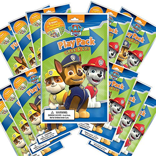 Nickelodeon Paw Patrol Grab and Go Play Packs (Pack of 12)]()