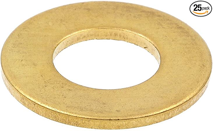 """Fits 7//8/"""" Yellow Zinc MASTER PRODUCTS Flat Washer Pack of 10"""