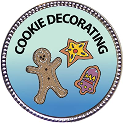Keepsake Awards Cookie Decorating Award, 1 inch Dia Silver Pin Culinary Arts Collection: Toys & Games