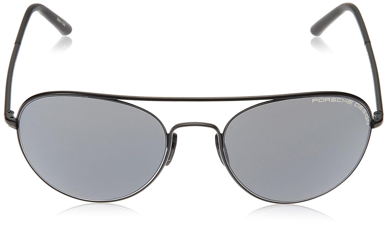 9f694460773 Amazon.com  Porsche Design Men s P 8606 P8606 C Black Fashion Sunglasses  54mm  Clothing
