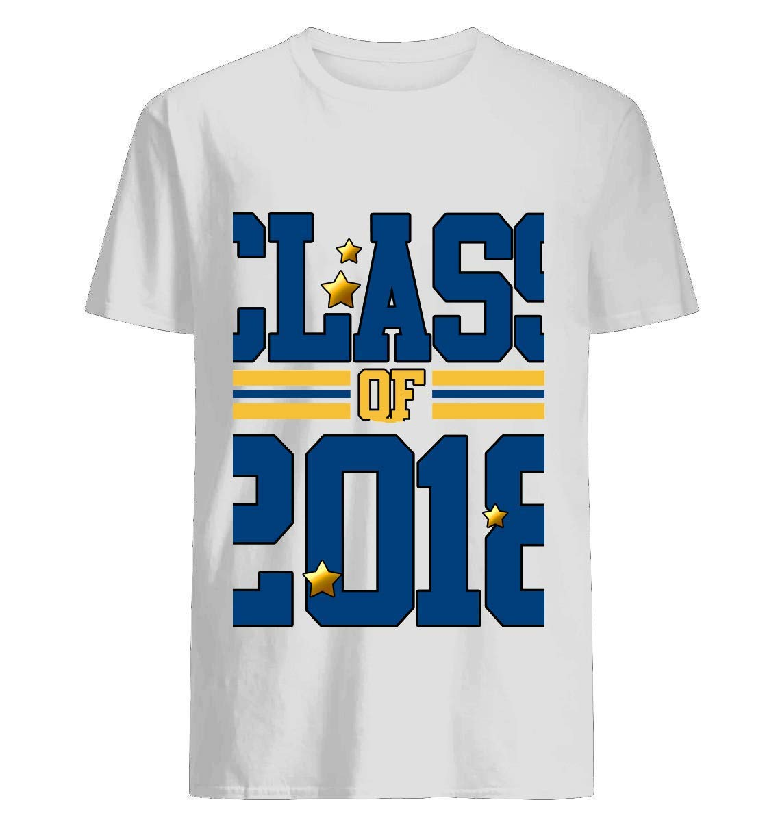 Blue And Yellow Class Of 2018 T Shirt For Unisex