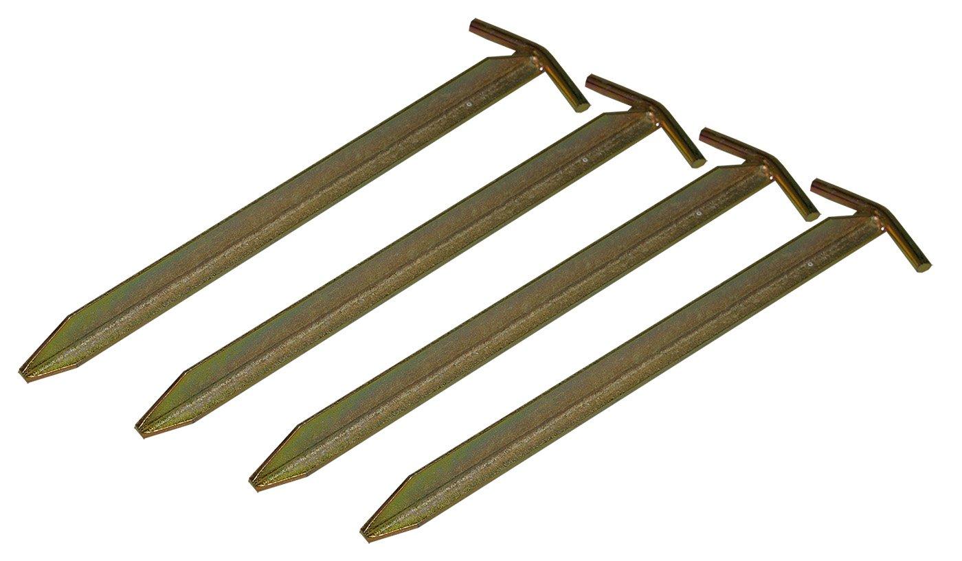 4St. Campiro® t de perfil Piquete de hierro 30cm Carpa Tienda Tienda piqueta camping