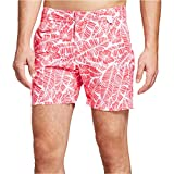 Ibiza Ocean Club Mens Swim Trunks (32, Floral Print Red)