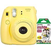 Câmera instantânea Fujifilm Instax Mini 8 - Amarela + Filme 20 poses INSTAX_KIT9M