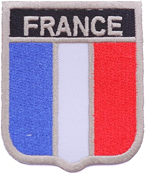 parche bandera Francia parches para ropa parches termoadhesivos parches bordados 8cm: Amazon.es: Juguetes y juegos