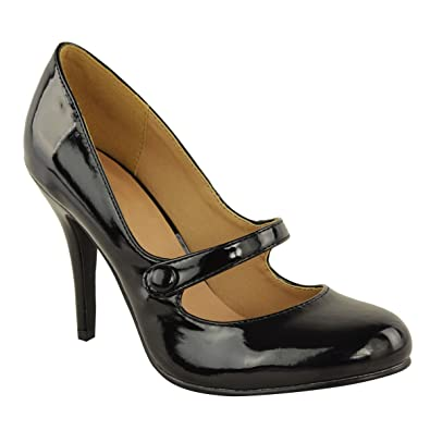 LADIES WOMENS LOW MID HIGH HEEL ANKLE STRAP COURT SHOES WORK PUMPS SANDALS SIZE UK
