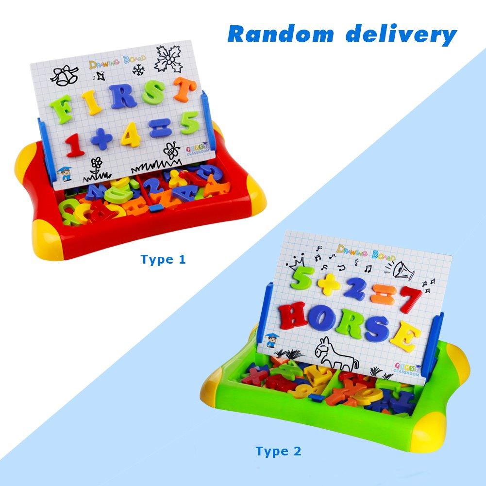 Giochi Lavagna Magnetica ABC Puzzle Magnetico Lettere Numeri 57pcs per 3+