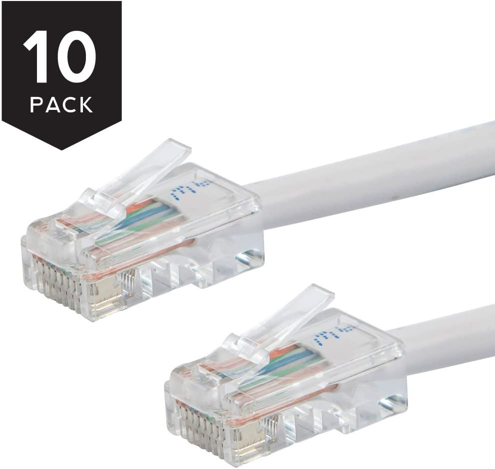 3Ft Cat.5E Non-Boot Patch Cable White