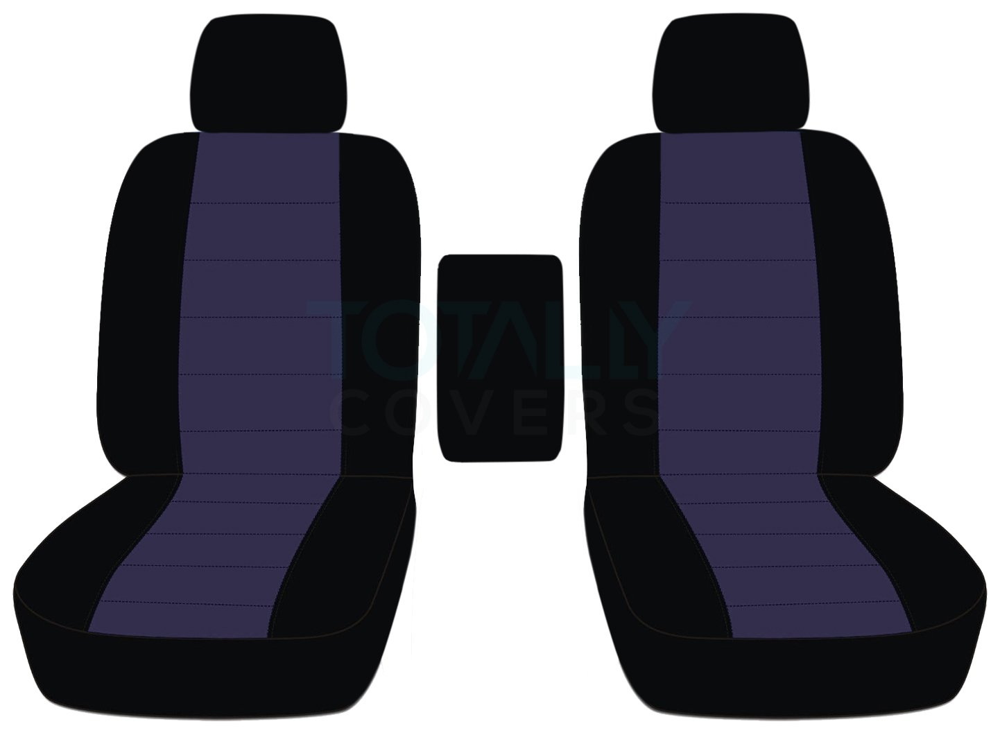 21 Colors Black /& Gray Totally Covers Fits 2009-2014 Ford F-150 Two-Tone Truck Bucket Seat Covers with Center Armrest 2010 2011 2012 2013 F-Series F150 Front