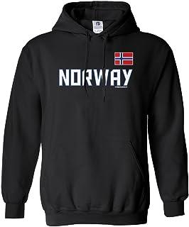 Amazon.com: Sudadera con capucha de la bandera noruega ...
