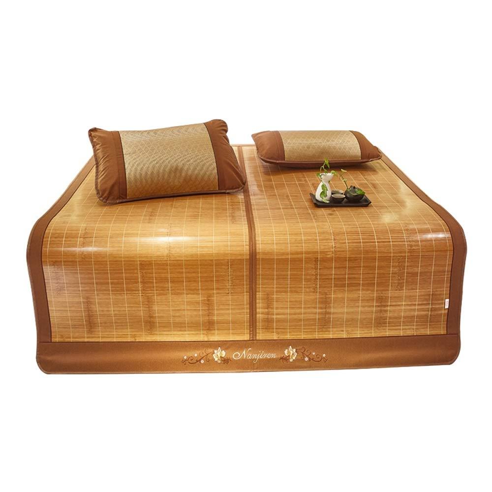 YONG FEI Bambusmatte - doppelseitig Faltbare Haushaltsseidenmatte für den Haushalt - in Sieben Größen erhältlich Sommer-Schlafmatte (größe   200X220cm)  120X190cm