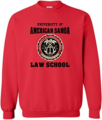 Amazon Com University Of American Samoa Law School Dt Novelty Crewneck Sweatshirt Clothing In 2015, 34 students graduated in the study area of legal and law with students earning 34 associate's degrees. university of american samoa law school