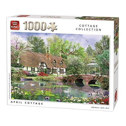King April Cottage Jigsaw Puzzle (1000 Pieces)