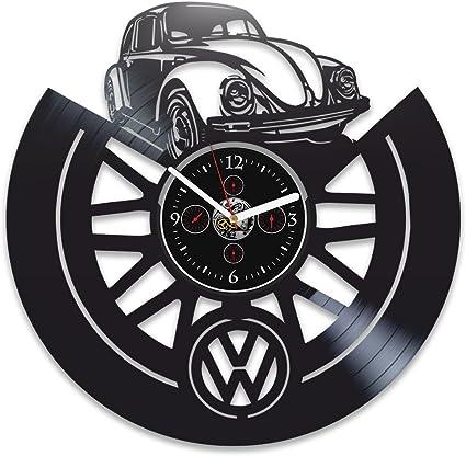 Amazon.com: Reloj de pared de vinilo para Volkswagen ...