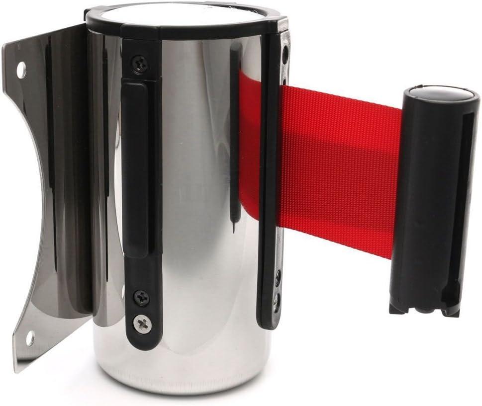 Negro 5 m Cinta de Seguridad Barrera de Cola de Barandilla Correa Retr/áctil Accesorios Sustituibles