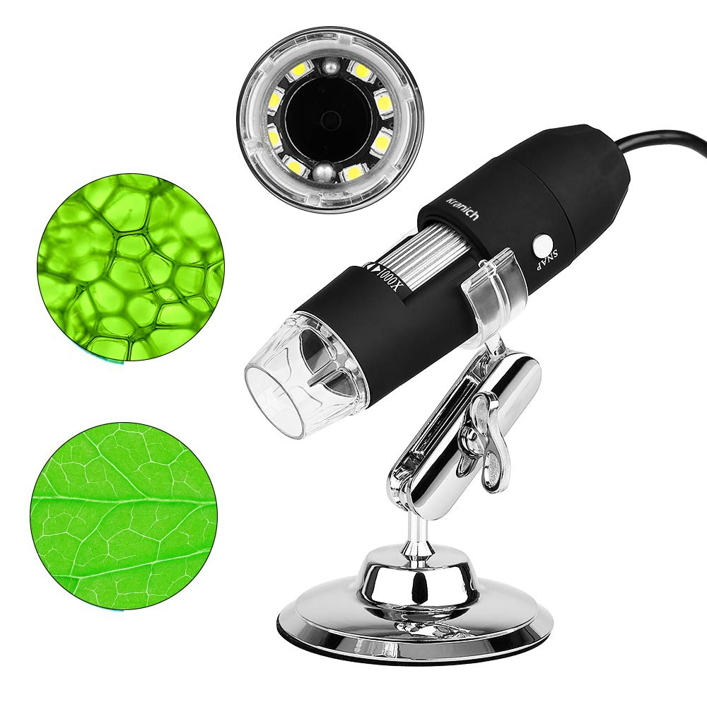 Microscopio endoscopio 1 3 en 1 endoscopio digital 1000x microscopio usb electronica portatil con PC Video mini cámara 8 LED y metal soporte para movil a42eef
