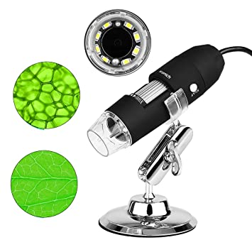 Microscopio endoscopio 3 en 1 Digital 1000x microscopio USB Electronica portatil con PC Video Mini cámara 8 LED y Metal Soporte para movil: Amazon.es: ...