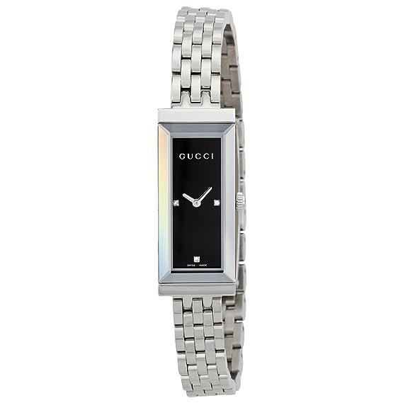 Gucci G FRAME – Reloj de pulsera analógico para mujer cuarzo acero inoxidable YA127504