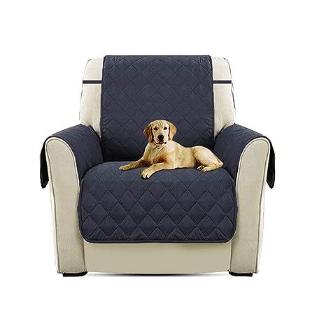 PETCUTE Cubre para Silla Fundas de Sofa Protector de sofá o sillón, Dos o Tres plazas Azul Profundo Silla