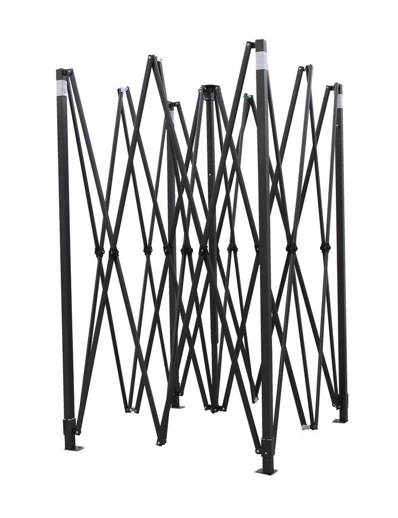 All Seasons Gazebos 3m x 3m Matt Black Steel Gazebo Frame Rohen Ltd