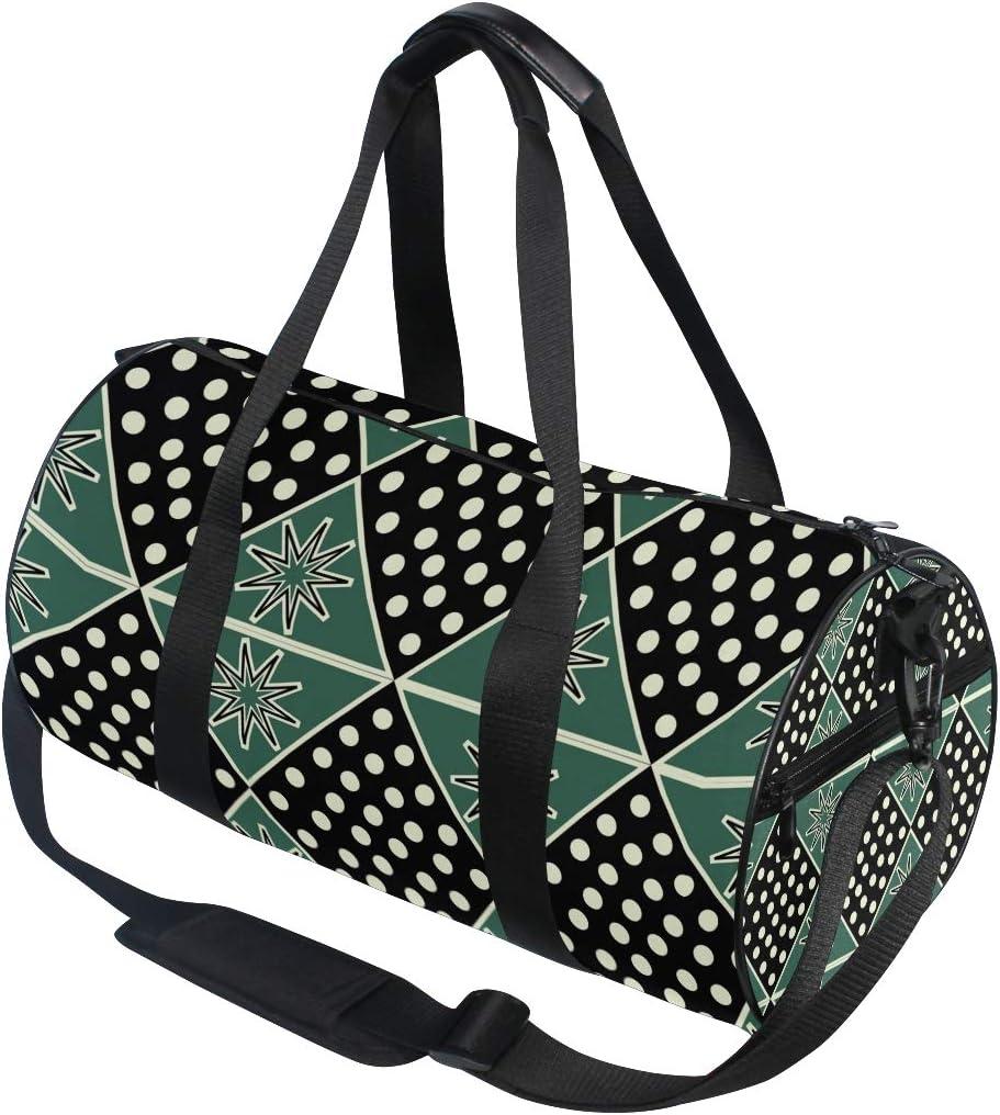 MALPLENA Snowflake And White Dots Drum gym duffel bag women Travel Bag
