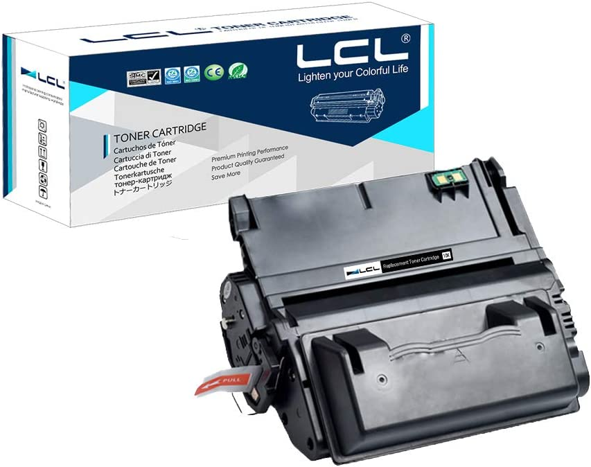 LCL Compatible Toner Cartridge Replacement for HP 38A Q1338A 4200 4200n 4200ln 4200tn 4200dtn 4200dtns 4200dtnsl (1-Pack Black)