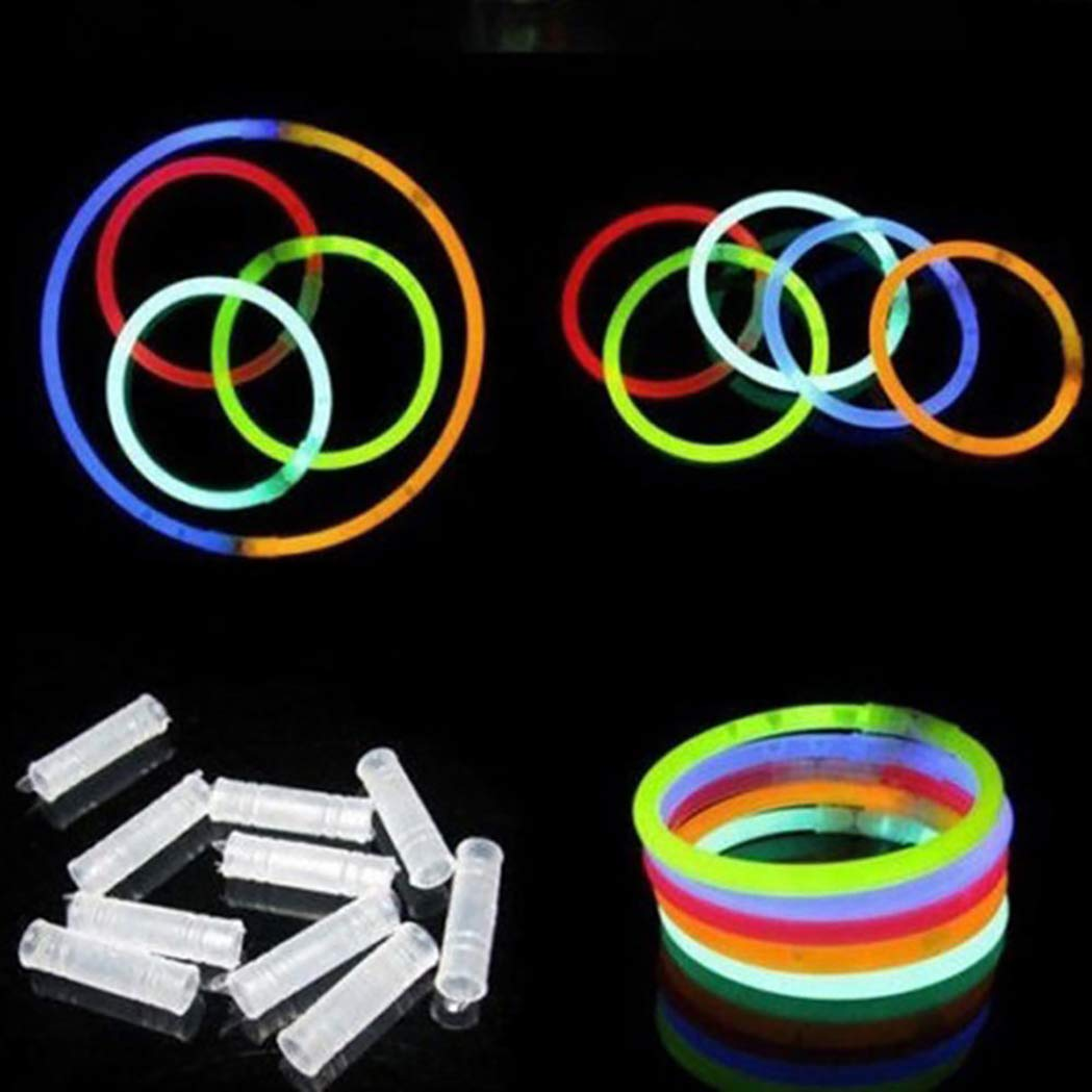 SeaStart 300 Barras Luminosas para Pulseras 300 Conectores, 6 Conectores Circulares en 6 Colores