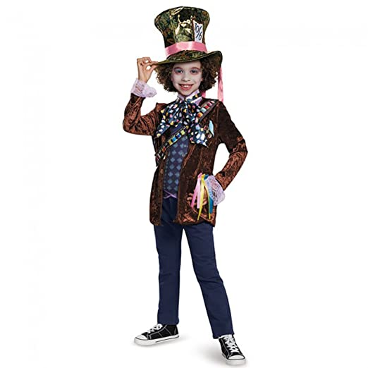 Mad Hatter Classic Alice Through The Looking Glass Movie Disney Costume, Small/4-6