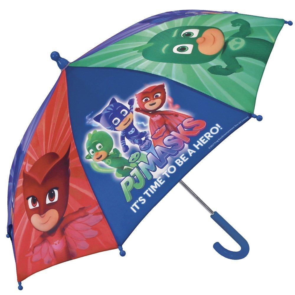 Pj Masks Héroes en pijamas Paraguas para niño y niña Perletti - Paraguas Los Pijamasques para lluvia antiviento manual - 66 cm de diámetro: Amazon.es: ...