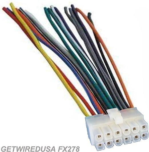 Getwiredusa Fx278 Dual Car Audio 12 Pin Stereo Wire Harness Radio Power Plug Mail Back Clip For Xd230m Xr4115 Xd1222 Xd1225 Xdm260 Xd5250 Xd1215
