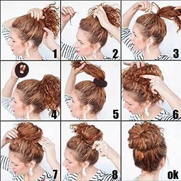 Beige CareforYou/® Children Kids Girls Ballet Dance Hair Bun Donut Ring Shaper Hair Styler Maker Doughnut Former Sponge PACK OF 2 SIZES Small /& Medium