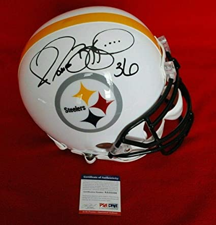 510f97361 Jerome Bettis Autographed Helmet - full size COA 2 - PSA DNA Certified -  Autographed