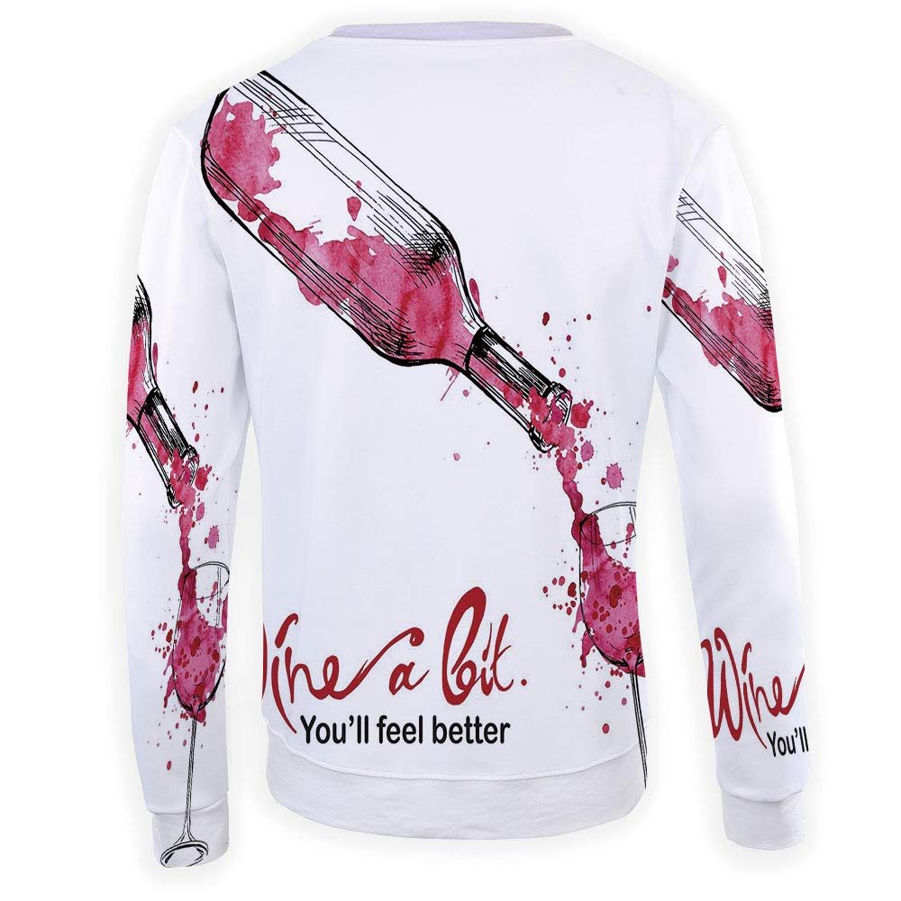 MOOCOM Unisex Wine Sweatshirts Crewneck