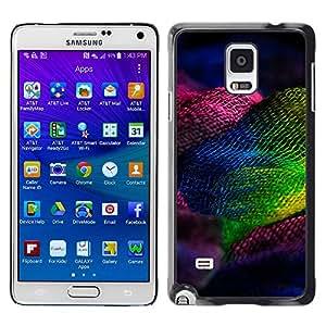 MOBMART Carcasa Funda Case Cover Armor Shell PARA Samsung Galaxy Note 4 - The Colored Hair Net
