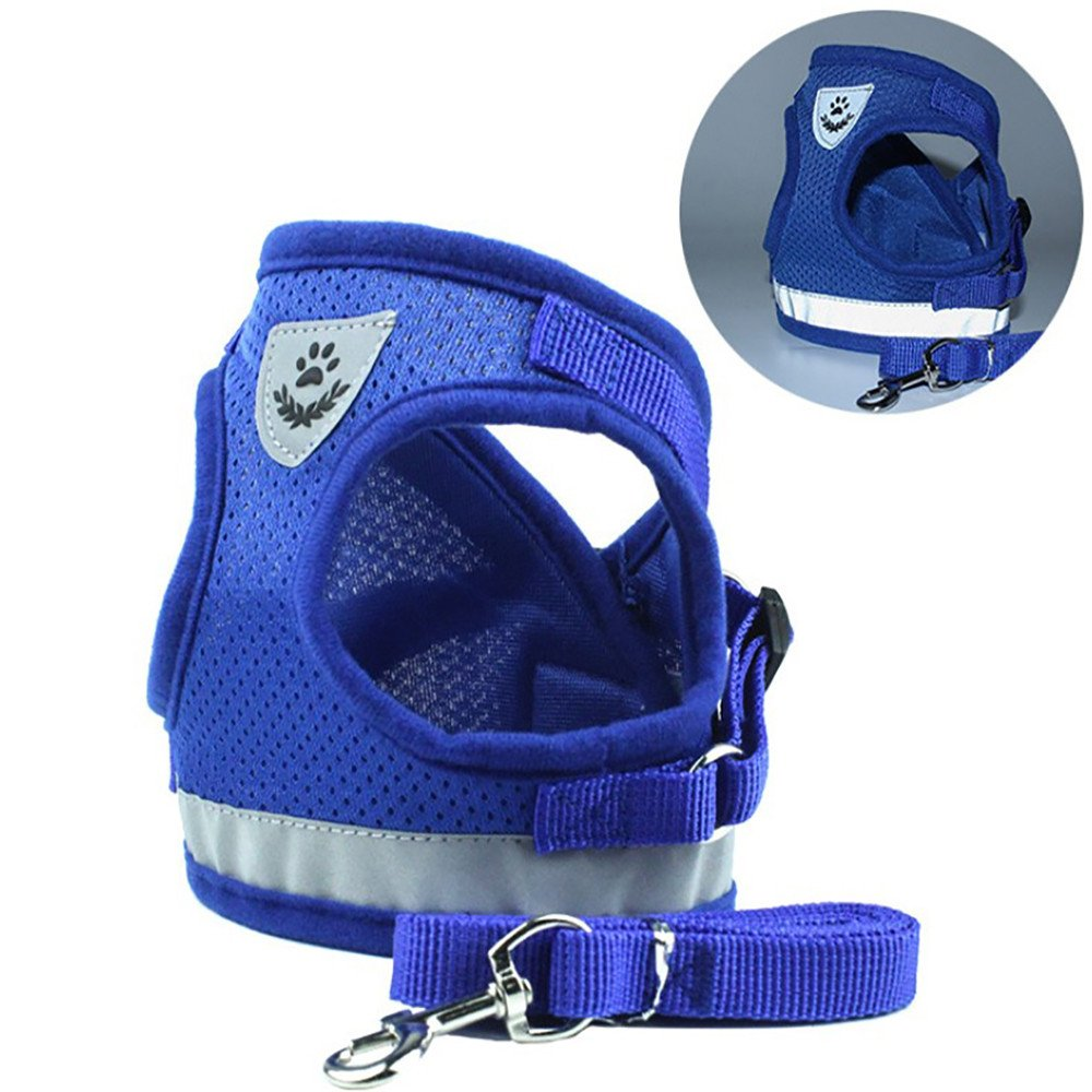 Glumes Dog Harness No-Pull Pet Harness Adjustable Outdoor Pet Vest with Leash for Dogs Easy Control for Small Medium Large Dogs Snug and Comfortable Best Pet Supplies