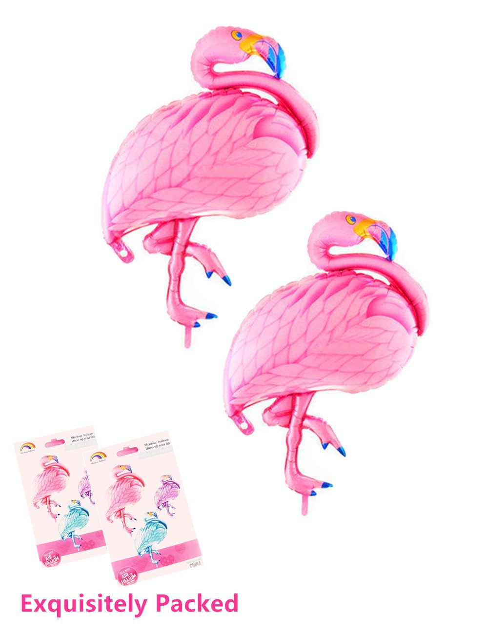 """Pack of 2 Pink Flamingo Balloons Baby Shower Birthday Balloons 40"""""""