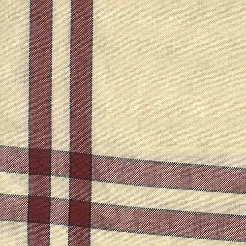 Dunroven House Cream Towel, 20 x 29-Inch, Red and Black Stripe