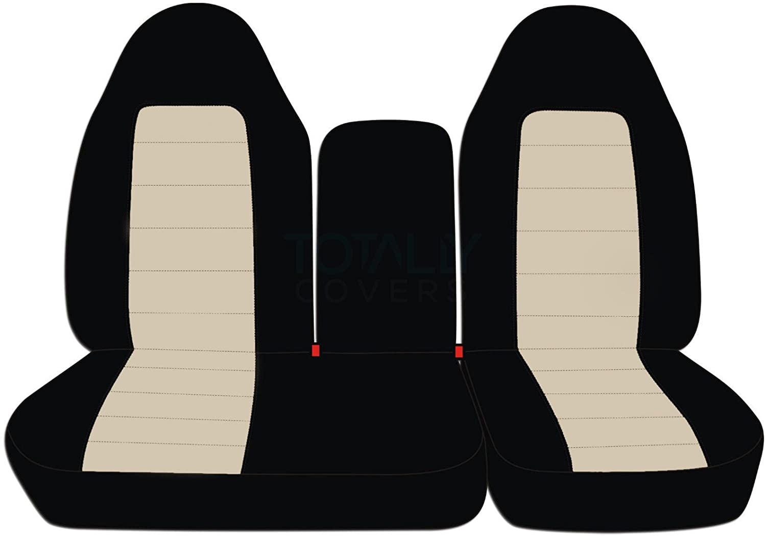 Totally Covers Fits 1997-2000 Ford F-150 Two-Tone Truck Seat Covers 1998 1999 F-Series F150 with Opening Center Console//Solid Armrest: Black /& Charcoal Front 40//60 Split Bench 21 Colors