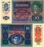 #10: 1915 AT AUSTRO HUNGARIAN EMPIRE 10 KRONEN! BEAUTIFUL MULTI-COLOR 1915 BANKNOTE! 10 KRONEN Crisp About Uncirculated