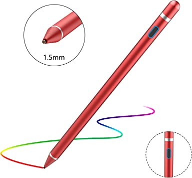 Capacitive Pen Active Stylus Suitable Touch Touch Screen Pen Color : Red