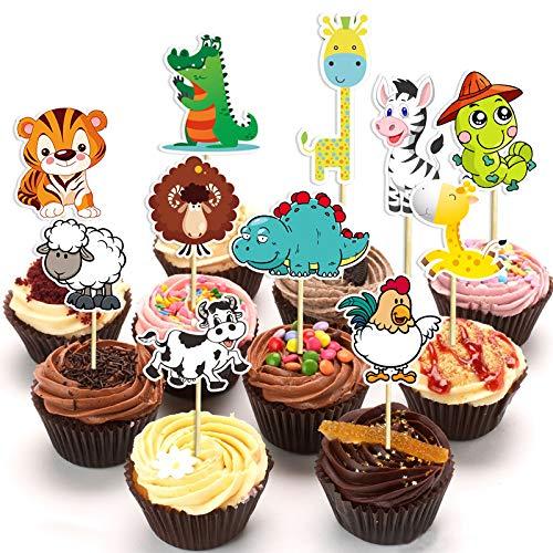 ... di compleanno. €2.13. Losuya Torta Jungle Animals Cake Toppers Picks per  Birthday Cake Cupcake Decoration Favor 015d82b04523