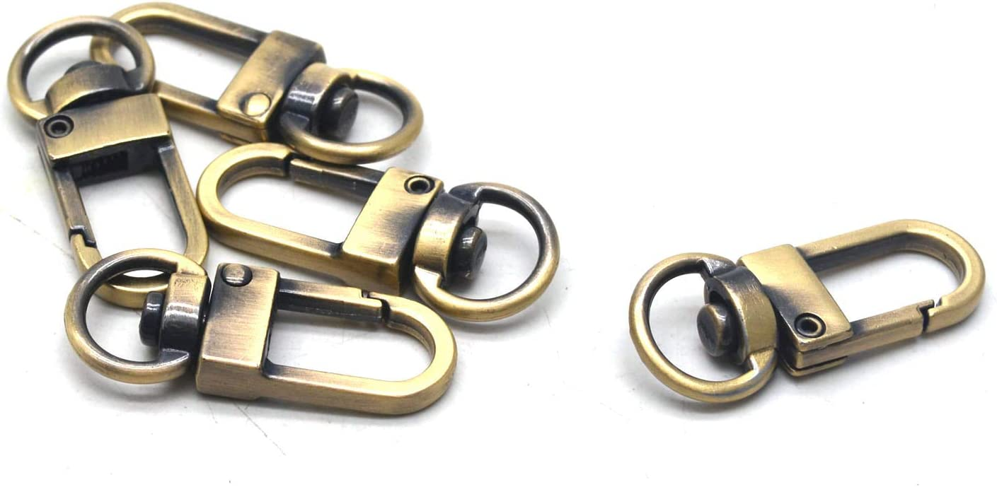 2//5 Inch Wide Swivel D Ring Silver 5 Pack Antrader Zinc Alloy Lobster Claw Clasps Trigger Snap Hooks