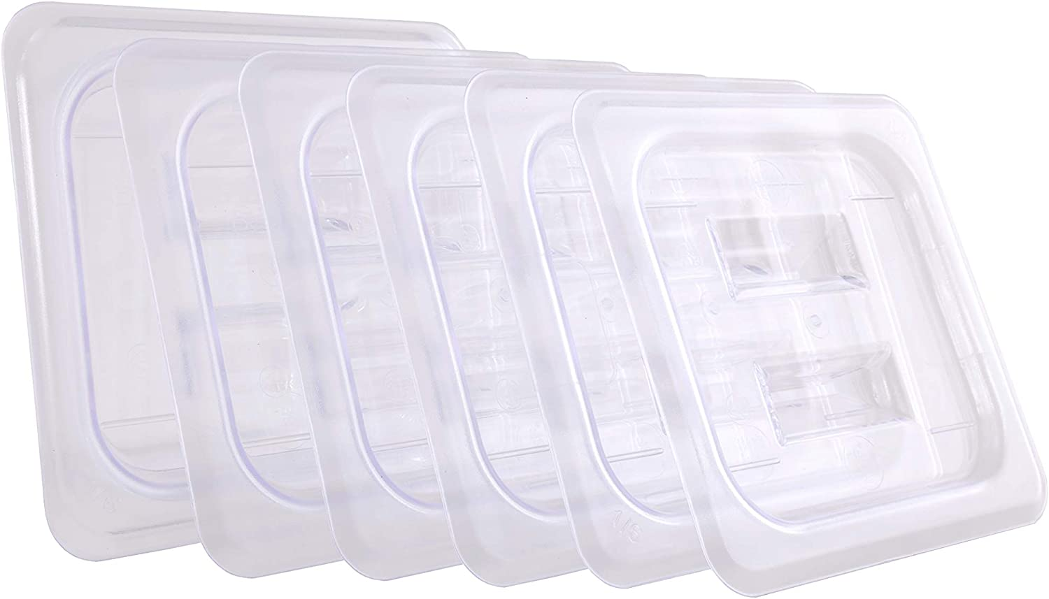 CMI1/6 Size Polycarbonate Food Pans Lid&Cover,Clear - Pack of 6